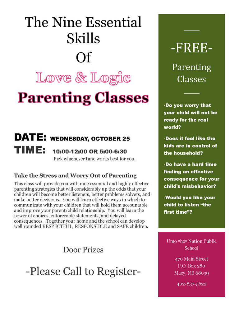 Free Parenting Classes Wednesday