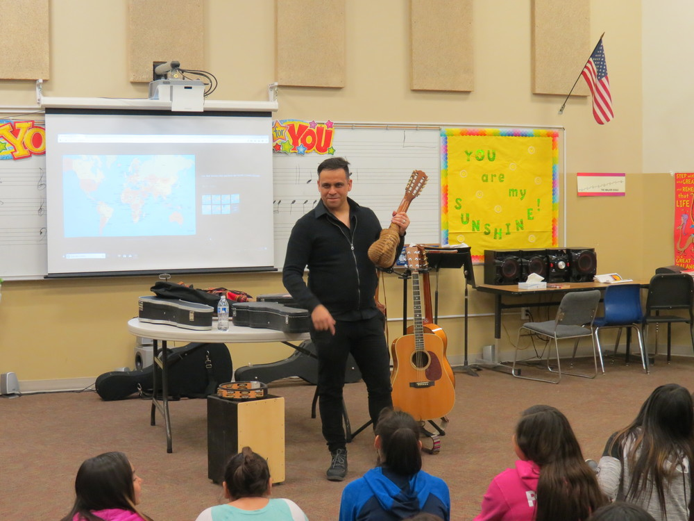 Lied Artist Visits Fifth Graders