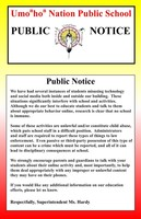 Public Notice Regarding Social Media