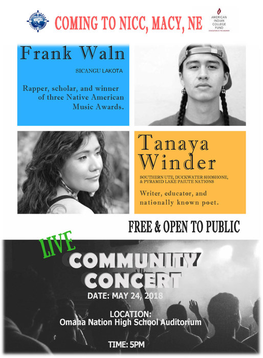 Community Concert May 24 at Omaha Nation Auditorium
