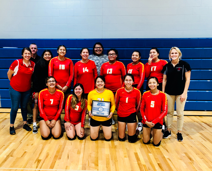 Congratulations to the Lady Chiefs on winning the Winnebago volleyball tournament.
