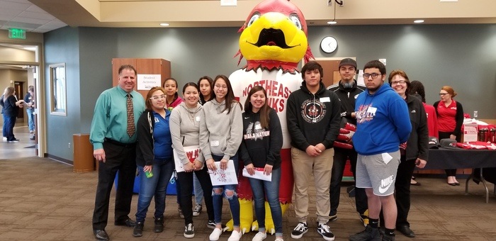 Mrs. Shoenfelder and Mr. Ariza took some Omaha Nation juniors and seniors to visit Northeast Community College in Norfolk.
