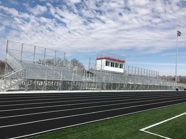 Wade Miller stadium got an even better upgrade with more seats for people to come out and watch our Chiefs.  The seating will make for better views for both home and visitors.  GO CHIEFS!!!