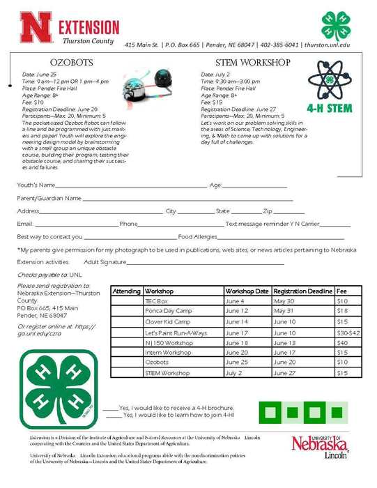 4-H Summer Opportunities