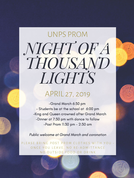 2019 Prom Flyer