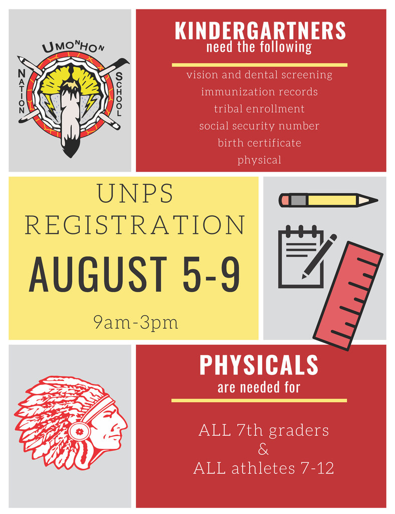 UNPS Registration August 5th - 9th 9am-3pm