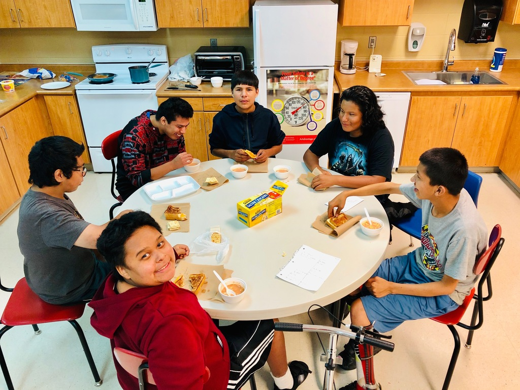 Scholars in Mr. Redden's class created a meal to share and enjoy for part of their lesson.