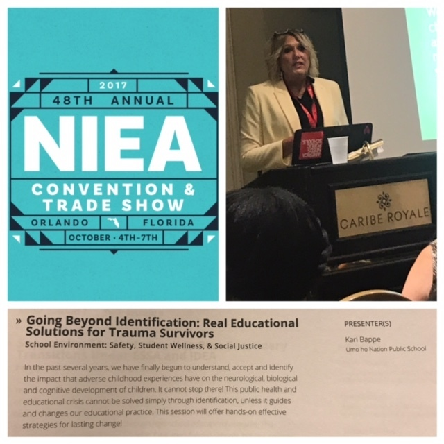 NIEA convention collage with image of Kari Bappe