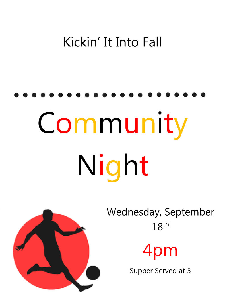 Community Night September 18th