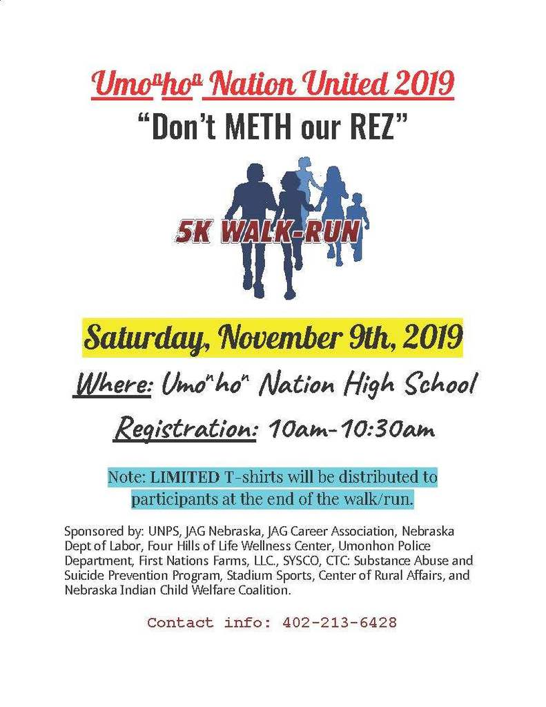 "1st annual ""Don't Meth With Our Rez"" 5k Walk/Run"