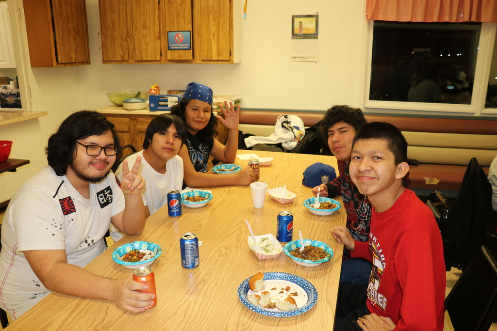 J.A.G. Students make a meal for senior center over Christmas break.