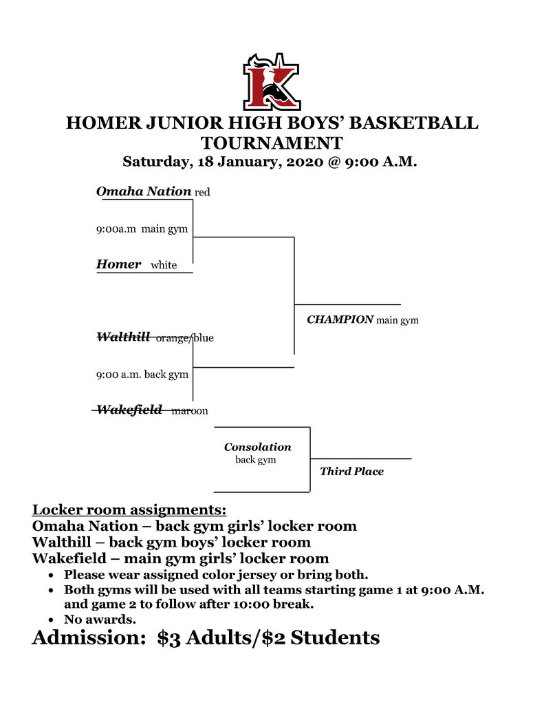 Homer Basketball Bracket