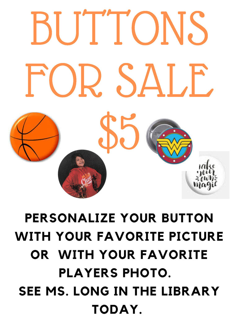 Personalized buttons flyer