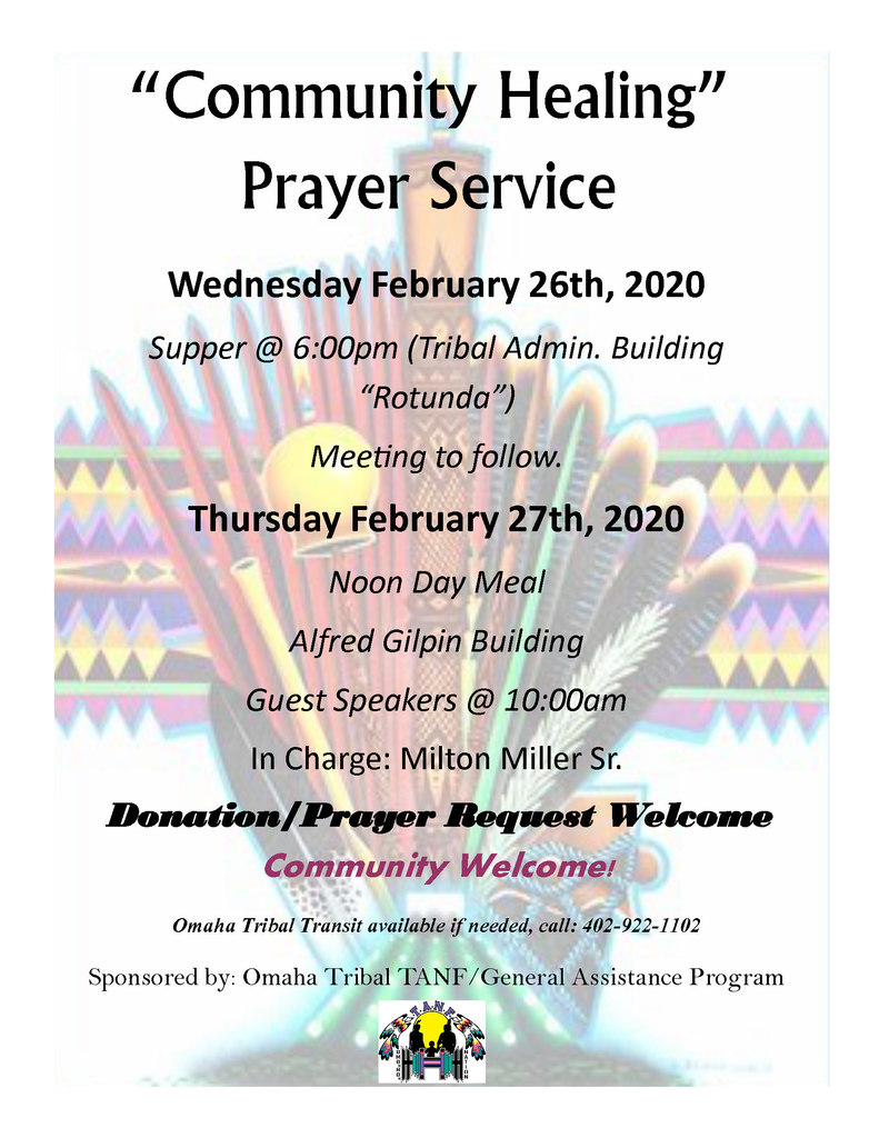 Community Healing Prayer Service