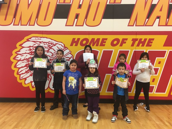 Perfect Attendance Award Winners from Quarter 2 were honored at our February Citizenship Assembly.