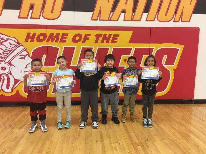 1st Grade Citizenship Award winners were honored at our February assembly.