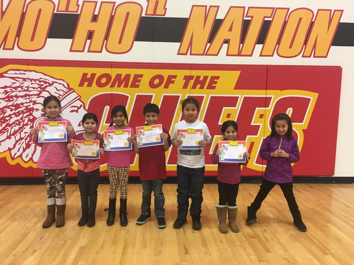 2nd Grade Citizenship Award winners were honored at our February assembly.