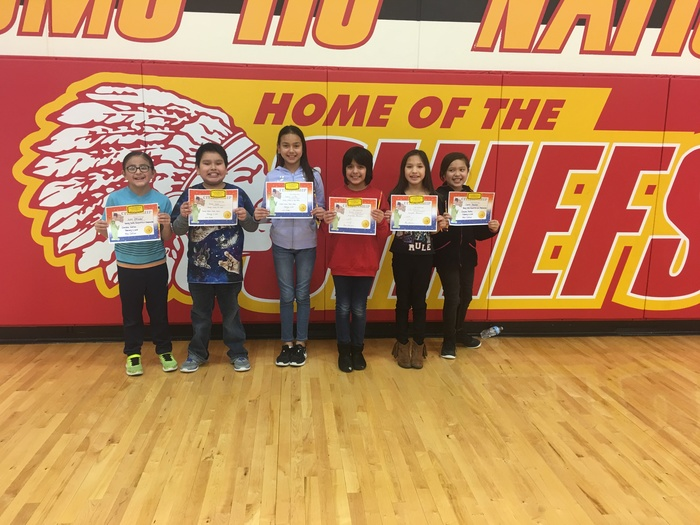 3rd Grade Citizenship Award winners were honored at our February assembly.