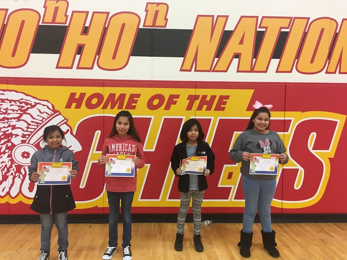 4th Grade Citizenship Award winners were honored at our February assembly.