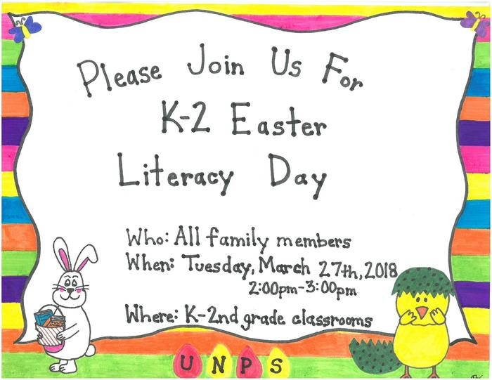 K-2 Easter Literacy Day