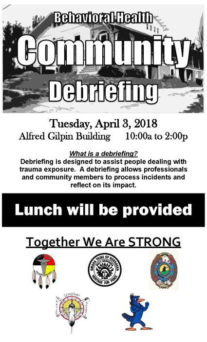 Community Debriefing Flyer