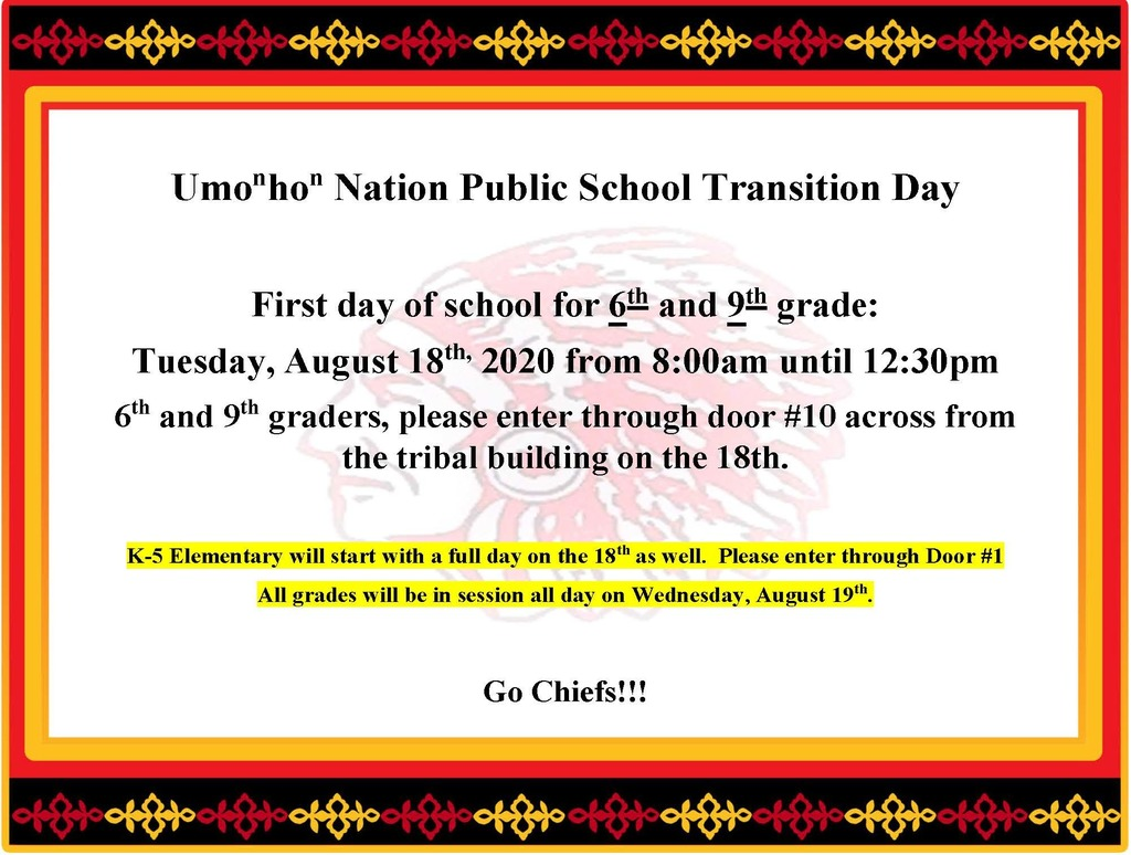 6th and 9th grade transition / orientation day.