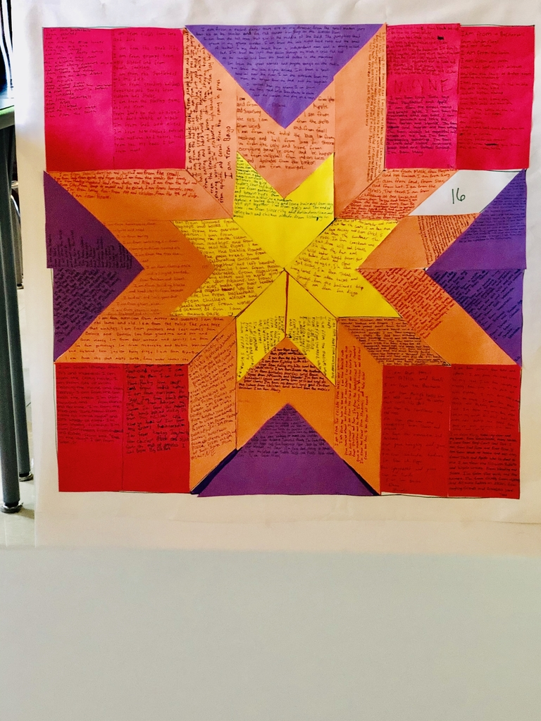 All about me star quilt poems.