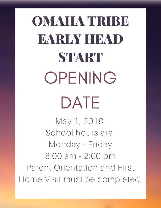 Omaha Way Head Start Opens May 1st